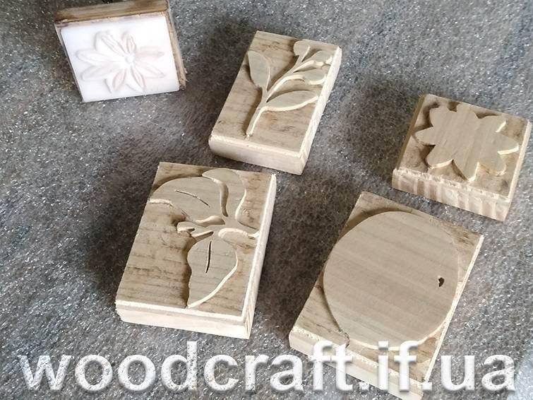 штамп для тканини з дерева